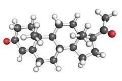 Molecola del progesterone Fotografia Stock