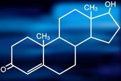 Molecola del testoterone Immagine Stock Libera da Diritti