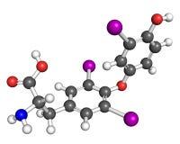 Molecola del Triiodothyronine Fotografie Stock