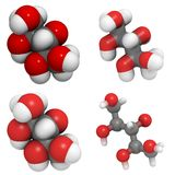Molecola del xilitolo Fotografie Stock Libere da Diritti