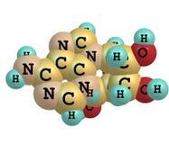 Molecola dell'adenosina isolata su bianco Immagine Stock
