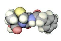 Molecola dell'antibiotico della penicillina illustrazione vettoriale