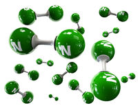 Molecola dell'illustratore di azoto su un fondo bianco illustrazione vettoriale