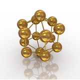 Molecola dell'oro Fotografie Stock Libere da Diritti