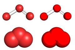 Molecola dell'ozono Fotografia Stock