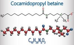 Molecola della betaina CAPB di Cocamidopropyl È utilizzato in sciampo, i Immagini Stock Libere da Diritti