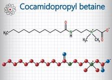 Molecola della betaina CAPB di Cocamidopropyl Foglio di carta in una gabbia Immagine Stock