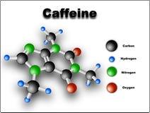 Molecola della caffeina Fotografia Stock