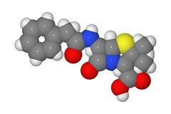 Molecola della penicillina Fotografia Stock