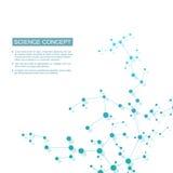 Molecola della struttura di DNA e dei neuroni Atomo strutturale composti chimici Medicina, scienza, concetto di tecnologia illustrazione di stock