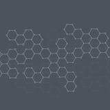 Molecola della struttura di DNA e dei neuroni sottragga la priorità bassa illustrazione di stock