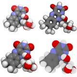 Molecola della vitamina B2 (riboflavina) Fotografie Stock Libere da Diritti