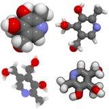 Molecola della vitamina B6 (piridossina) Fotografia Stock