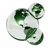 Molecola di acqua della terra Fotografie Stock