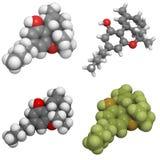 Molecola di Delta-9-tetrahydrocannabinol Immagini Stock Libere da Diritti