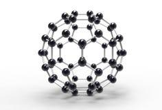 Molecola di Fullerene Fotografia Stock Libera da Diritti
