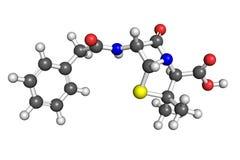 Molecola di G della penicillina Immagine Stock Libera da Diritti