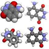 Molecola di Luminol Fotografia Stock