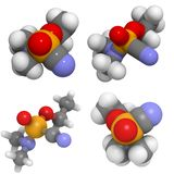 Molecola di Tabun (GA) Fotografia Stock