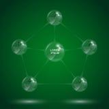 Molecola di vetro infographic illustrazione vettoriale
