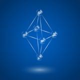 Molecola di vetro infographic royalty illustrazione gratis