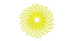 Molecola girante del nanotube del carbonio su bianco royalty illustrazione gratis