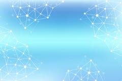 Molecola grafica geometrica e comunicazione del fondo Grande complesso di dati con i composti Allinea il plesso, matrice minima Fotografia Stock Libera da Diritti