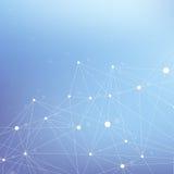 Molecola grafica geometrica e comunicazione del fondo Grande complesso di dati con i composti Contesto di prospettiva minimo Fotografie Stock Libere da Diritti