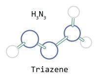 Molecola H3N3 Triazene Immagine Stock Libera da Diritti