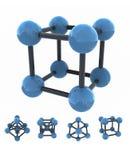 Molecola isolata illustrazione di stock