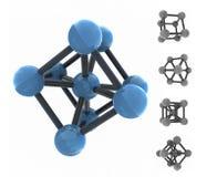 Molecola isolata Fotografia Stock