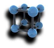 Molecola isolata con ombra royalty illustrazione gratis