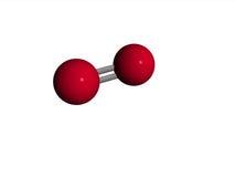 Molecola - ossigeno - O2 Immagine Stock