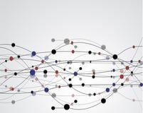 Molecola, priorità bassa astratta illustrazione vettoriale