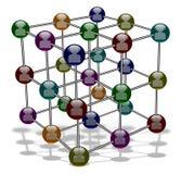 Molecola sociale di media royalty illustrazione gratis