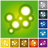 Molecole astratte del cerchio royalty illustrazione gratis