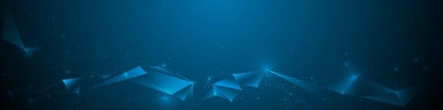 Molecole astratte dell'insegna con la linea, geometrica, poligono, triangolo Fotografia Stock Libera da Diritti