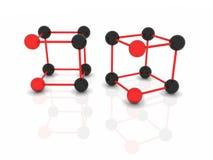 Molecole astratte di vettore Immagini Stock Libere da Diritti