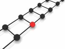 Molecole astratte di vettore in due colori Immagine Stock Libera da Diritti