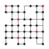 Molecole astratte di vettore in due colori Fotografia Stock