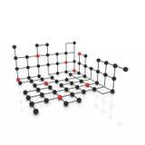 Molecole astratte di vettore in due colori Fotografia Stock Libera da Diritti