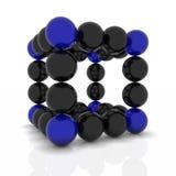 Molecole astratte di vettore in due colori Fotografie Stock Libere da Diritti