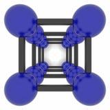 Molecole astratte di vettore in due colori Immagini Stock