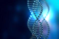 Molecole del DNA sul fondo astratto di tecnologia royalty illustrazione gratis