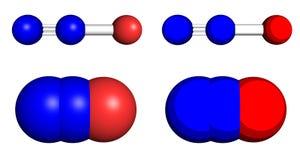 Molecole del protossido d'azoto illustrazione vettoriale