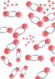 Molecole dell'ossigeno - modellistica molecolare Immagine Stock