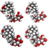Molecole di Stevioside Fotografia Stock Libera da Diritti