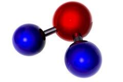 Molecole su bianco Fotografie Stock