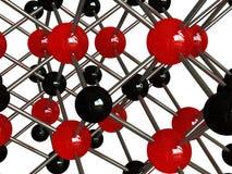 Moleculaire achtergrond Stock Fotografie