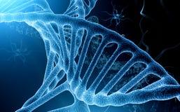 Moleculaire Dromenreeks Abstract die ontwerp van conceptuele atomen, molecules en fractal elementen over onderwerp van biologie,  vector illustratie